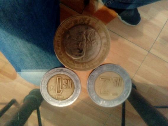 3 Monedas De 10 N1 Peso Y N2 Pesos