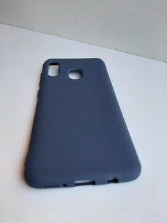 Capa Capinha Case Samsung A20/a30 Aveludada Azul Marinho