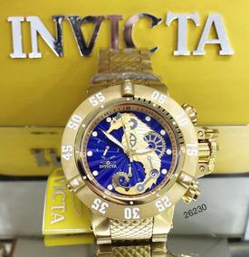 Relógio Invicta 26230 Subaqua Original Banhado Ouro + Maleta