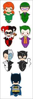 Plancha De Stickers De Dc Batman Joker Harley Quinn Two Face