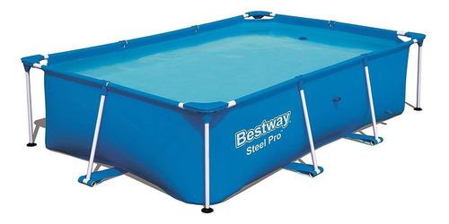 Alberca estructural rectangular Bestway 56403 con capacidad de 2300 litros de 2.59m de largo x 1.7m de ancho  azul