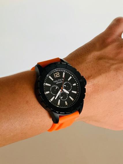Relógio Nautica Masculino N17595g - Sport - Pulseira Resina
