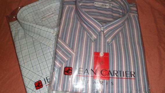 Camisa Manga Corta Jean Cartier Talle 54. Premium.