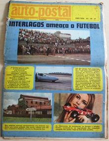 B1185 Revista Auto-postal Out/70 Nº 4 Formato 42x30cm Com