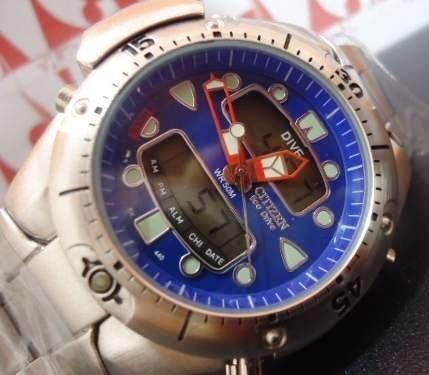 Relogio Atlantis Modelo Jp1060 Aqualand Azul Aço =citizen