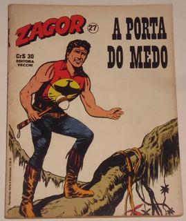 Hq Zagor Nº 27 - A Porta Do Medo - Ed. Vecchi - 1980