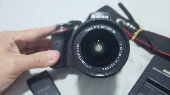 Câmera Nikon D3200 + Lente 18-55mm - 43966 Cliques - Defeito