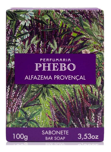 Sabonete Em Barra Phebo Alfazema Provençal 100g Kit C/24