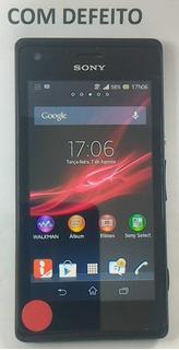 Celular Sony Xperia C1904 - Com Defeito Tela Trincada