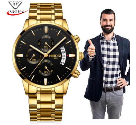 Relógios Masculinos Nibosi Blindado Anti-risco 100%funcional Promoção