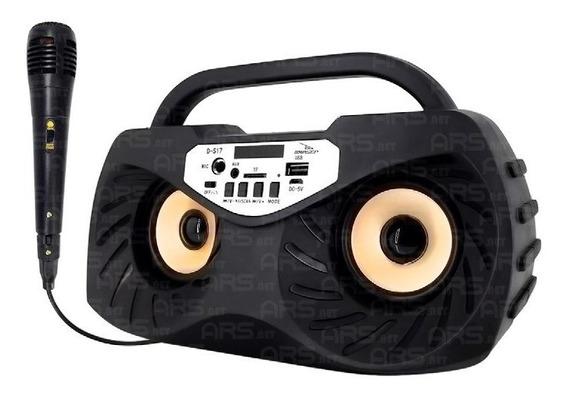 Caixas De Som Portátil Bluetooth Coruja Mp3 Usb C/ Microfone