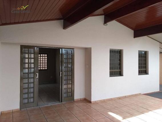 Casa Com 3 Dormitórios Para Alugar, 170 M² Por R$ 1.500/mês - Jardim Santo Antônio - Mogi Guaçu/sp - Ca1511