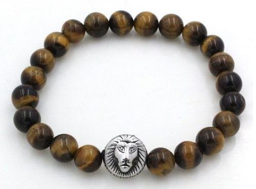 Pulseiras Masculinas Pedras Naturais Olho De Tigre Bracelete