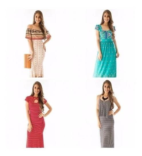 Kit Com 10 Vestidos Longos Moda Evangélica Atacado Revenda