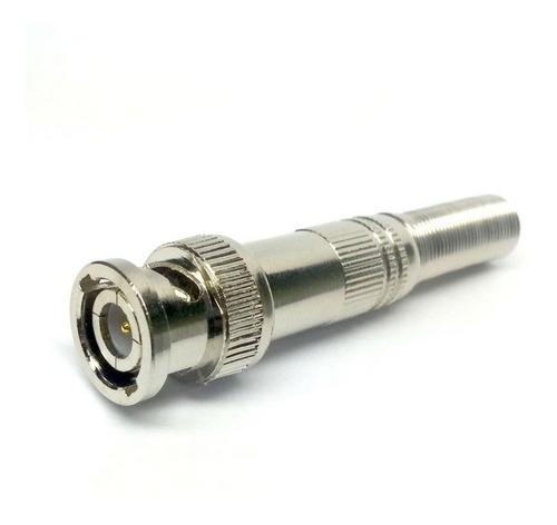 Imagem 1 de 1 de 10 Conector Bnc Macho Com Mola Para Câmeras