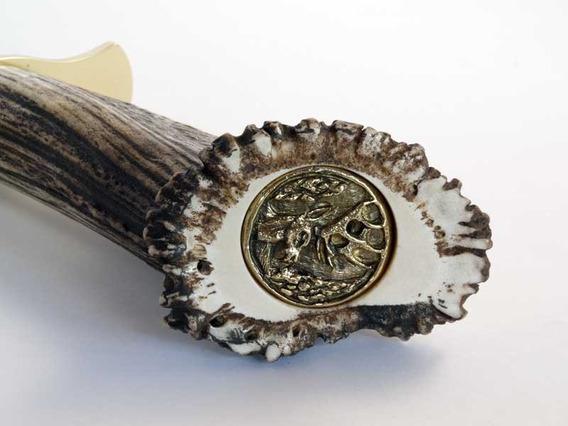Cuchillo De Caza Muela Magnum-26, Puño De Asta Con Roseta