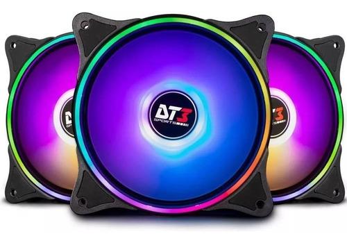 Kit 3x Fan Cooler 120mm Trio Rgb Sync Pro Dt3 Sports Zx120