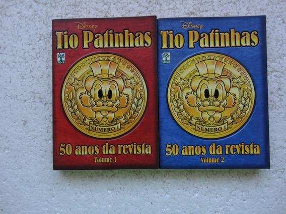 Tio Patinhas 50 Anos Da Revista Vol 1 E 2! Ed. Abril 2013