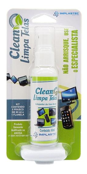Clean Limpa Telas 60ml + Flanela Anti Risco