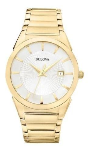 Relógio Bulova Dourado Slim Wb21605h Original