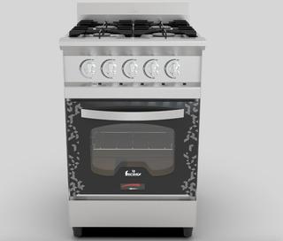 Cocina Industrial Fornax 52cm Versatil Cv52ev Acero Visor