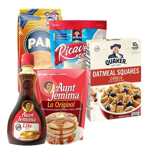 Combo Desayuno Y Cena Familiar Aunt Jemima, Quaker, P.a.n.