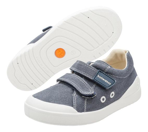 Zapato Niño Balerina Flash Lame Doble Velcro Biomecanics