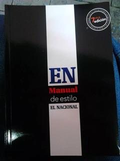 Manual De Estilo El Nacional Ultima Edicion #33 ( Nuevo )