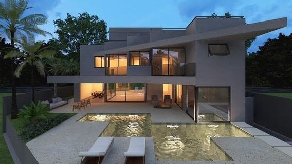 Casa Com Projeto Contemporâneo: 5 Suítes 6 Garagens - Ca80157