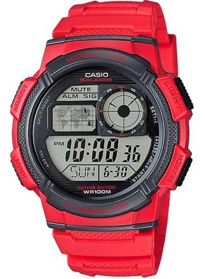 Relógio Casio Masculino Ae-1000w-4avdf World Map