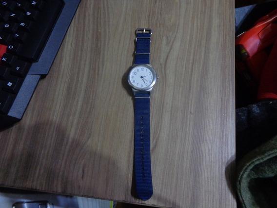 Relógio Tipo Militar Azul Aeronautica Piloto 40mm