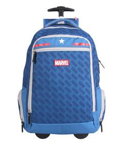 Kit Escolar Mochilete +lancheira Capitão América Marvel