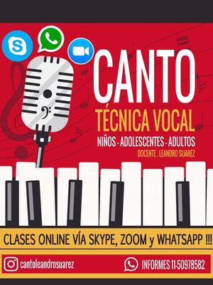 Clases De Canto A Distancia Vía Skype, Zoom O Whatsapp