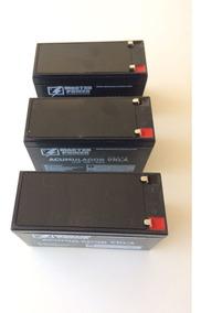 Kit 3 Bateria 12v 7a Master Selada Fabricação Nacional