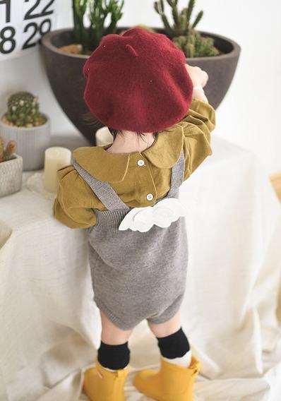 Vestido Tejido Gris 2-3 Años Ropa Bebés Niñas Invierno