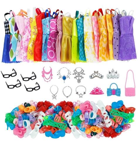 Kit Completo Set De  35 Articulos Compatible Con Barbie