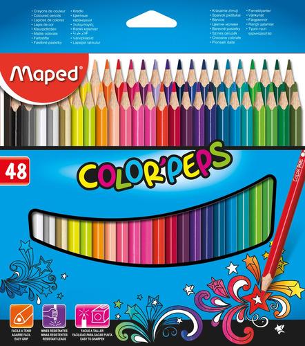 Imagen 1 de 1 de Lápices Maped Color Peps 48 Colores