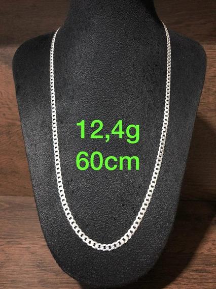 Colar De Prata Italiana 925 Modelo Groumet 12,4g 60cm