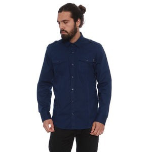 Camisa Opera Rock Com Bolsos. Azul Marinho