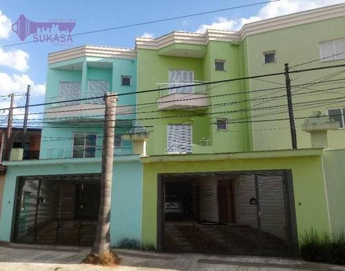 Sobrado Com 3 Dormitórios À Venda, 126 M² Por R$ 700.000,00 - Paraíso - Santo André/sp - So0527