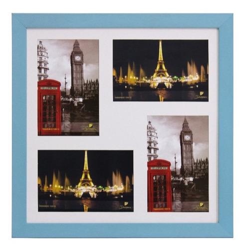 Painel Porta Retratos De Parede Pop Para 4 Fotos 10x15