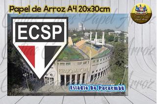 E C São Paulo Julio De Castilhos Papel De Arroz P/ Bolo A4