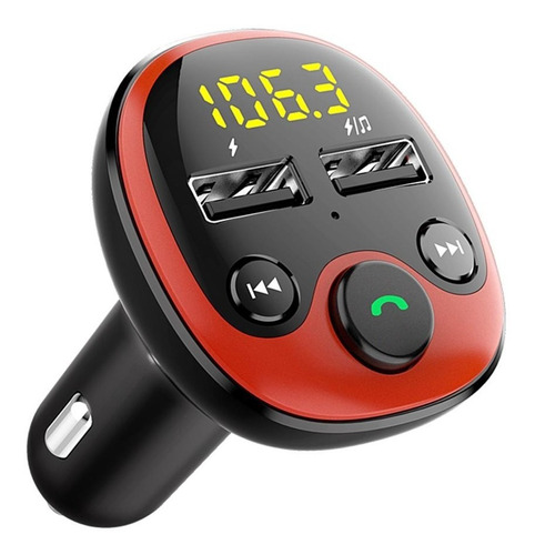 Receptor Bluetooth Auto Transmisor Fm Audio Manos Libres