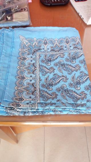 Paliacates Pañuelos Azul Claro Estampados 36 Piezas