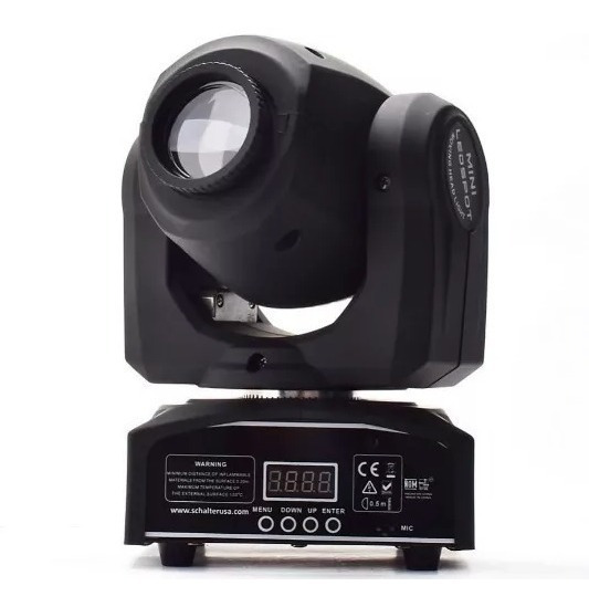 Moving Head Spot Osram 20w Gobo + Disco De Cores Dmx Sensor