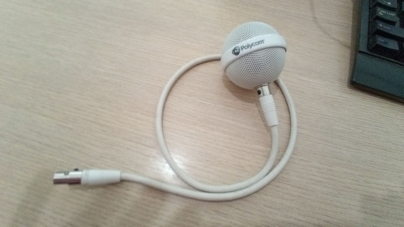 Microfone De Teto Polycom Primário Branco/preto 2200-23809