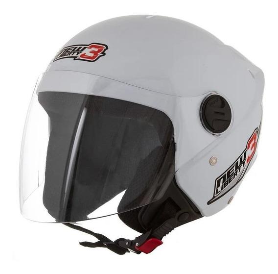 Capacete para moto aberto Pro Tork New Liberty Three branco L