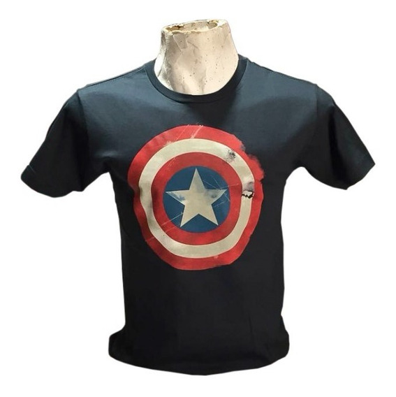 Remera Capitan America Varios Colores Calidad Premium
