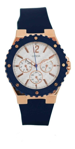 Reloj Guess W0149l5 Azul Para Mujer Original + Envío Gratis