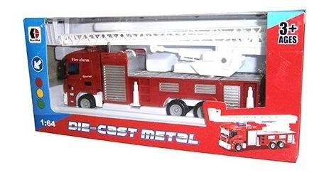 Camion Bomberos De Metal 1:64.